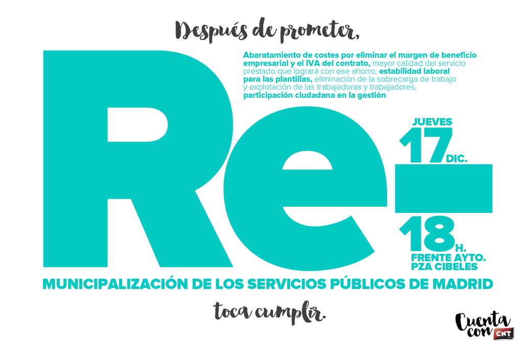 Remunicipalización servicios públicos Madrid